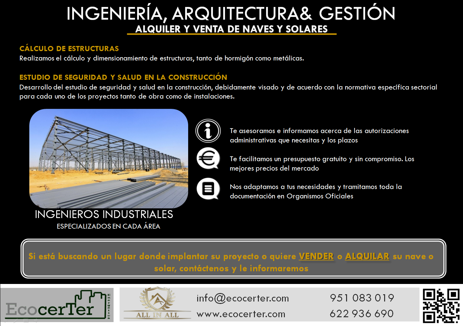 PROJECTS RENT AND SALE OF INDUSTRIAL BUILDINGS AND PLOTS